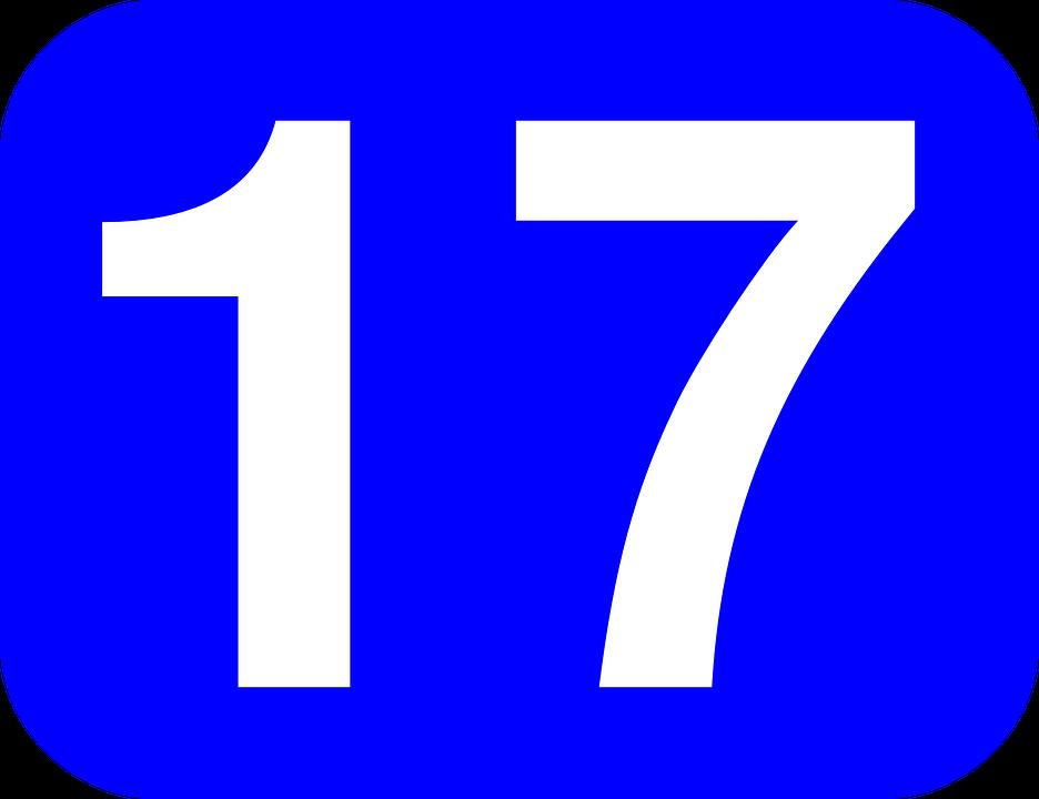 936x720 Number Clipart Seventeen