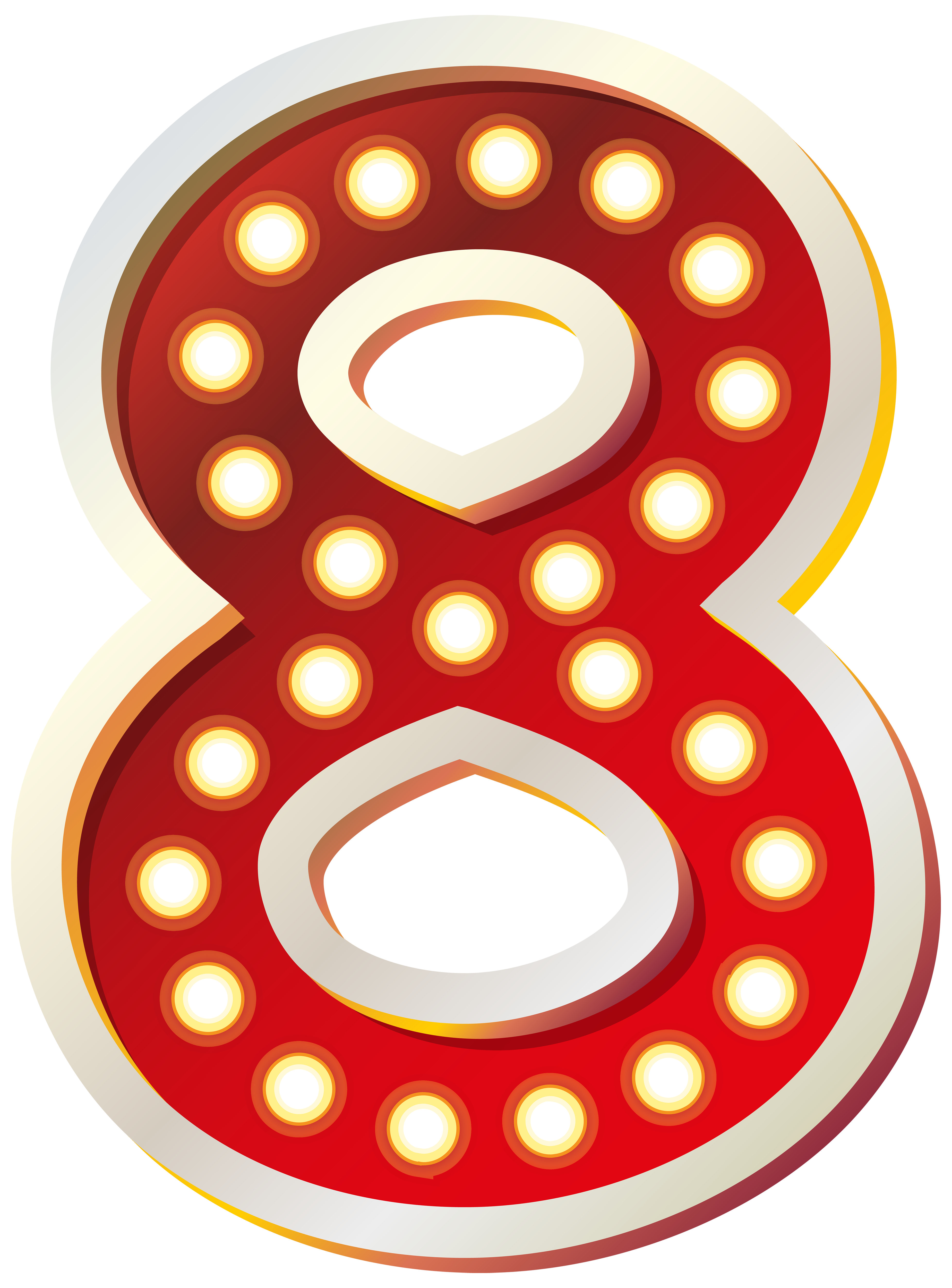3697x5000 Red Number Eight With Lights Png Clip Art Imageu200b Gallery