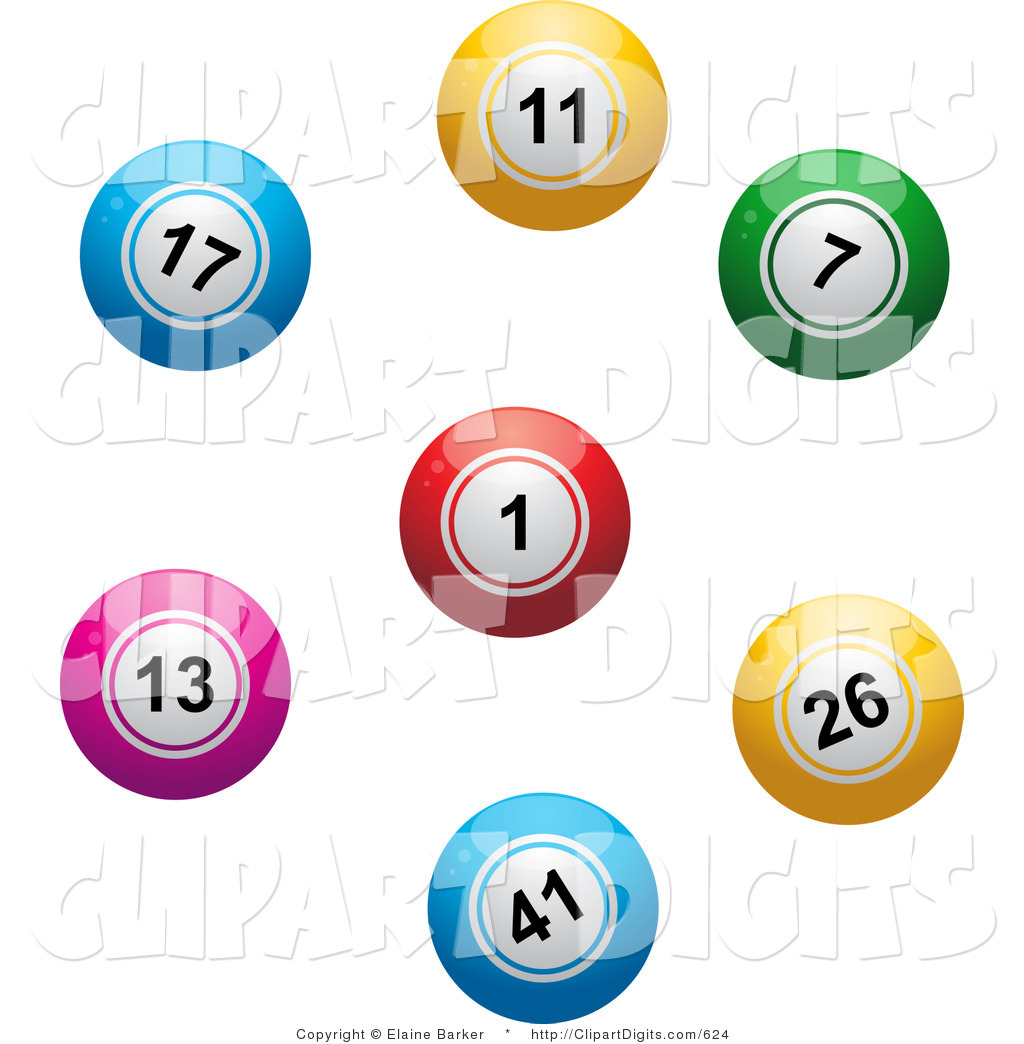 1024x1044 Vector Clip Art Of A Colorful Lottery Or Bingo Balls In A Circle