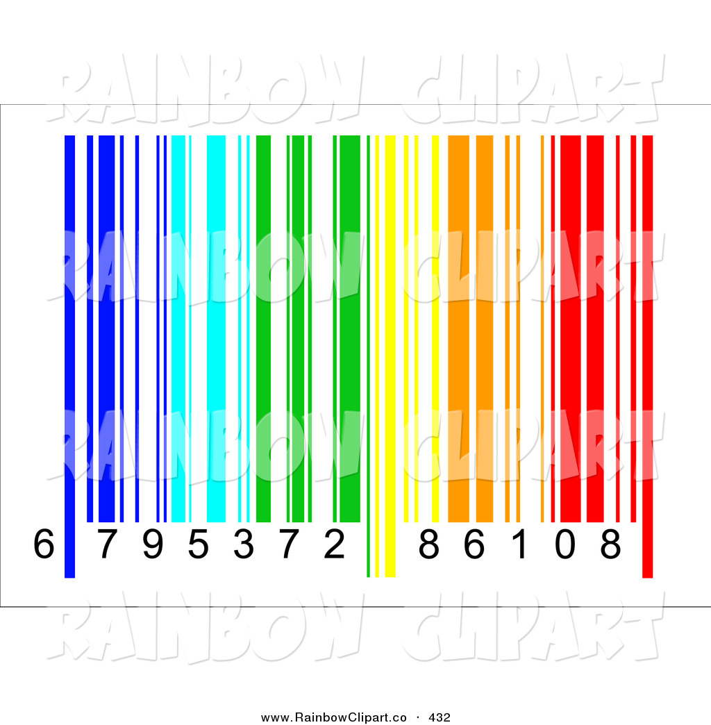 1024x1044 Vector Clip Art Of A Rainbow Colored Barcode And Numbers On White