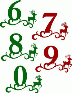 232x300 Christmas Clip Art Numbers Fun For Christmas
