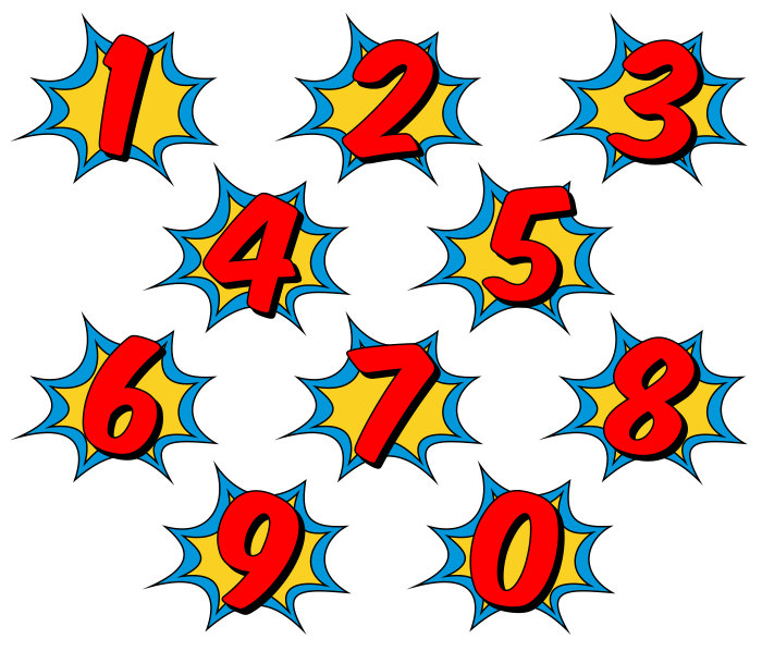 700x598 Superhero Clipart, Comic Book Clip Art, Comic Book Numbers