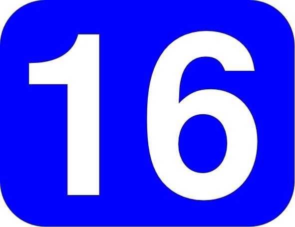 591x455 Blue Rounded Rectangle With Number 16 Clip Art Free Vector In Open
