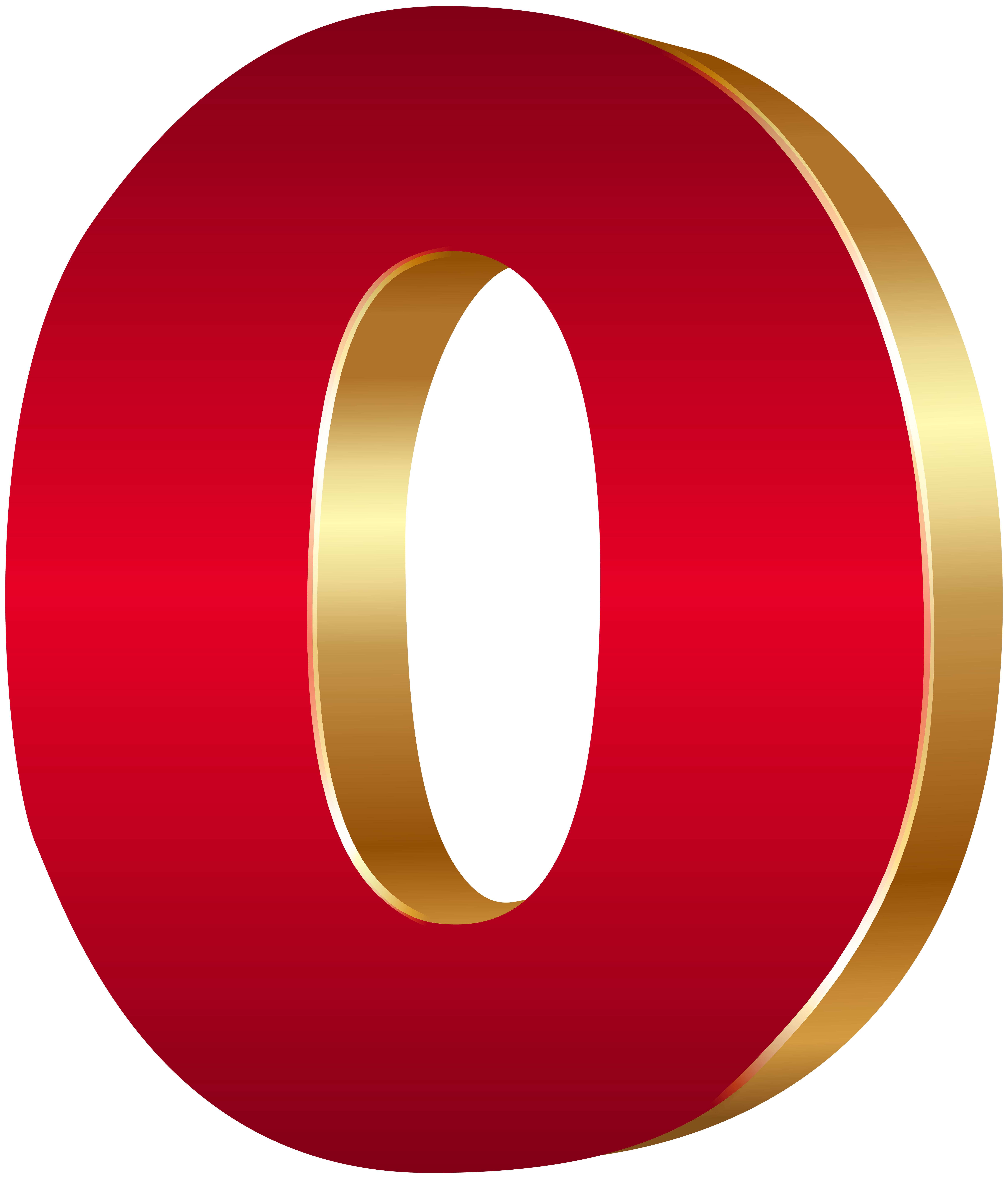6840x8000 3d Number Zero Red Gold Png Clip Art Imageu200b Gallery Yopriceville
