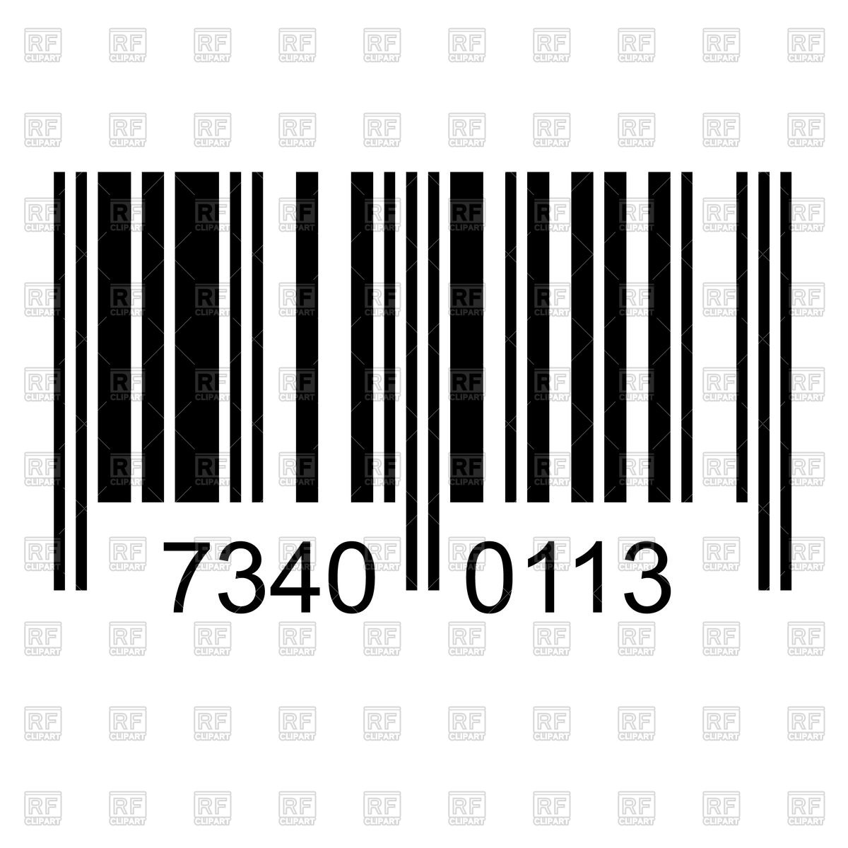 1200x1200 Barcode With Fake Numbers Royalty Free Vector Clip Art Image
