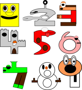 273x300 Cartoon Numbers Clip Art