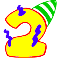 200x200 Free Birthday Numbers Clipart