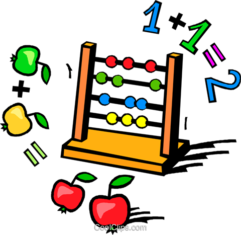 480x467 Abacus Clipart Abacus With Apples And Numbers Royalty Free Vector
