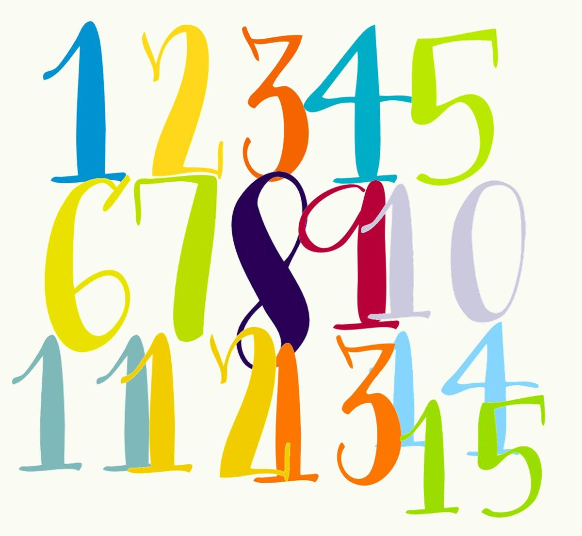 1200x1106 Clip Art Of Numbers From 1 To 20 Clipart
