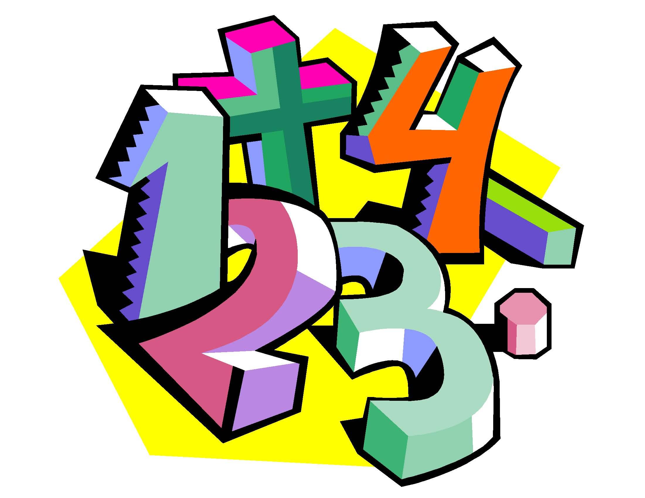 2201x1701 Math Numbers Clip Art