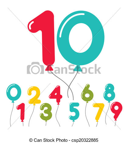 421x470 Balloon Number Clipart