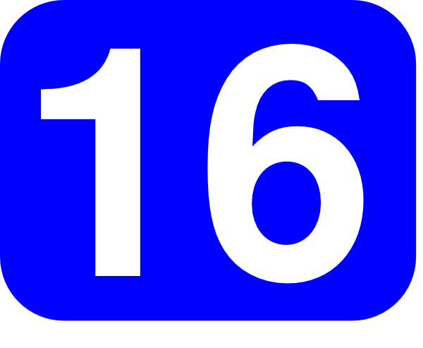 600x493 Blue Rounded Rectangle With Number 16 Clip Art