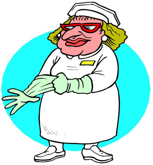 500x539 Nurse Clipart Funny