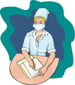 308x350 Picture Of Nurse Writing Chart Notes On Patient's Chart In