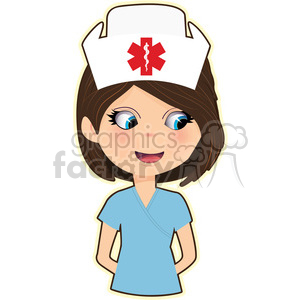 300x300 Royalty Free Nurse Cartoon Character Vector Image 394896 Vector