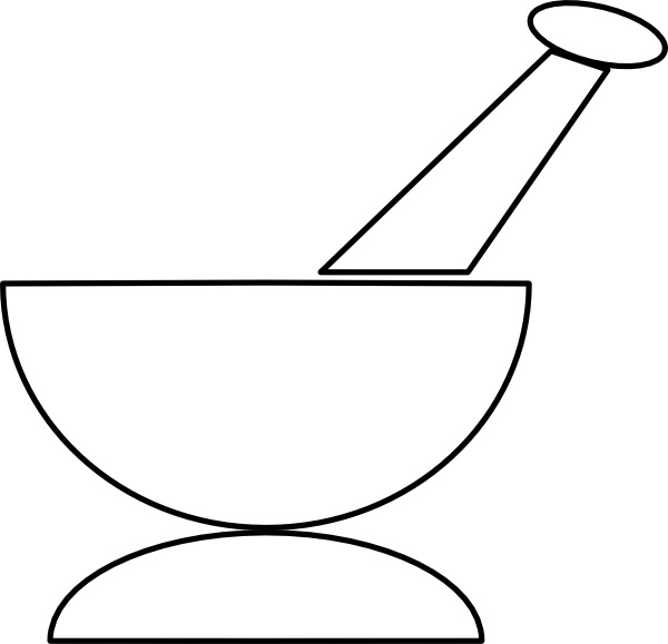 600x579 Mortar And Pestle Clip Art Free Vector In Open Office Drawing Svg