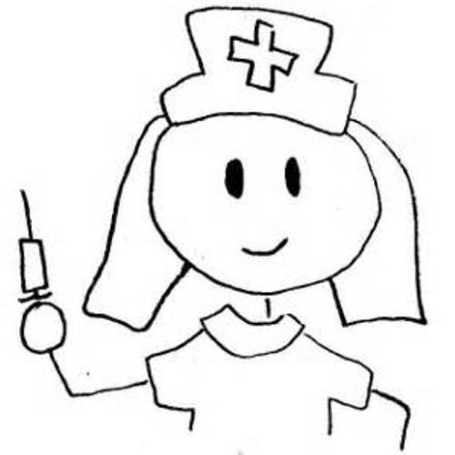 500x500 Nurse Clipart Black And White