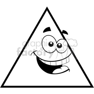300x300 Royalty Free Geometry Triangle Cartoon Face Math Clip Art Graphics