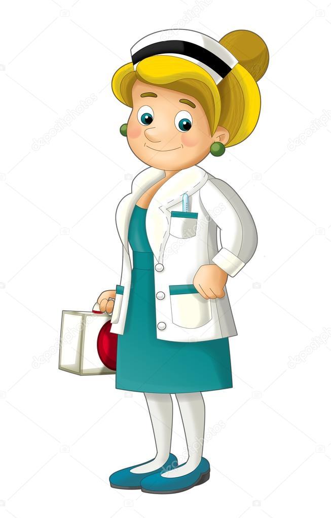 653x1023 Cartoon Nurse Stock Photo Illustrator Hft