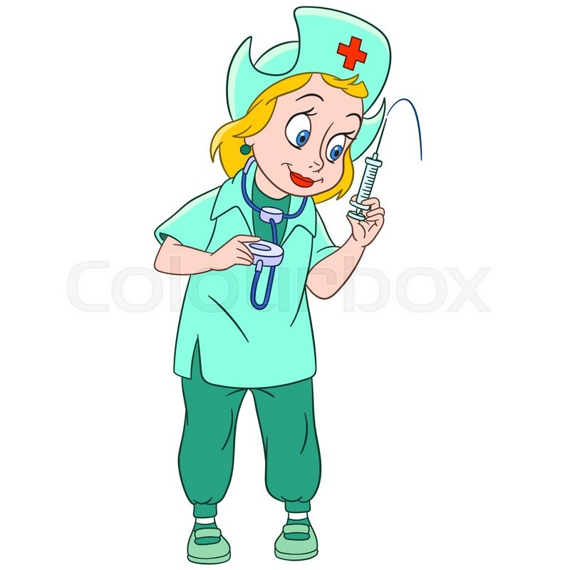 800x800 Cute And Friendly Cartoon Woman Nurse (Pediatric Nurse, Doctor