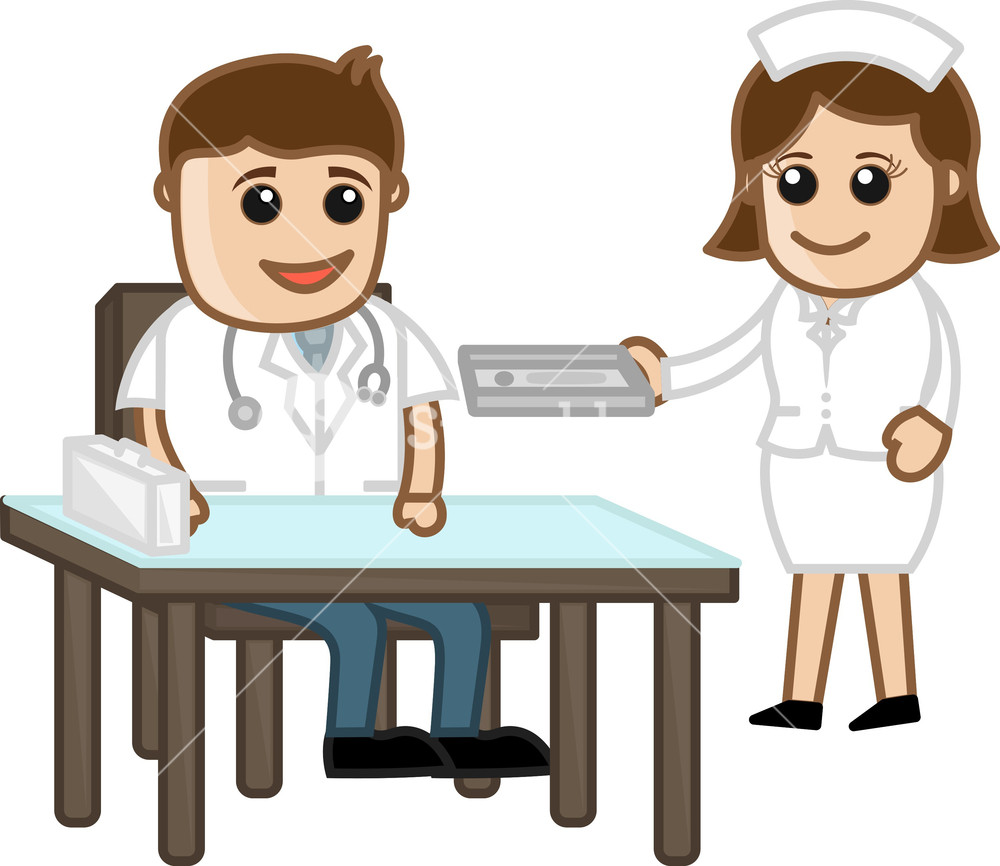 1000x866 Doctor In Clinic With Nurse