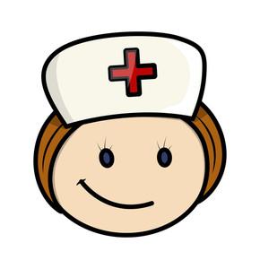 290x300 Happy Cartoon Nurse Character Face Royalty Free Stock Image
