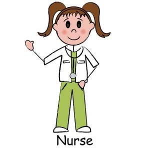 300x300 Nurse Cartoon Clipart Image