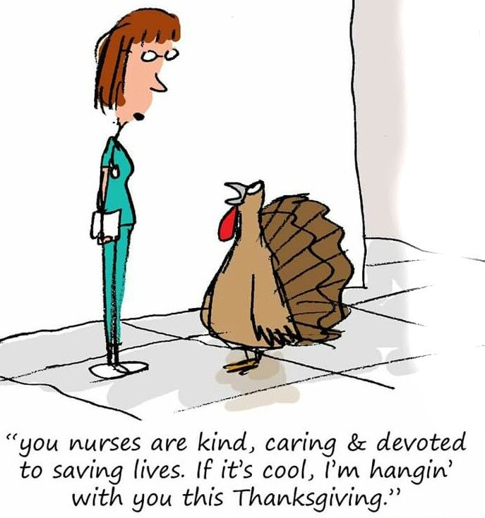687x735 Thanksgiving Nursing Cartoons You Can Definitely Relate