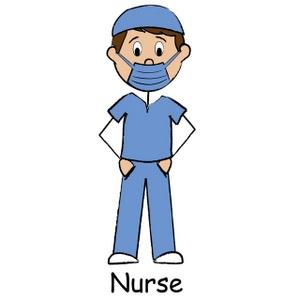 299x300 Male Nurse Clipart