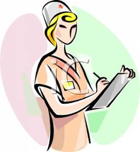 275x300 Free Clipart Image A Nurse Writing On A Chart