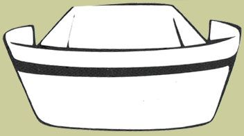 352x196 Nurse Hat Clipart Black And White