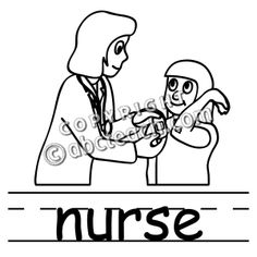 236x236 Black And White Nurse Clipart