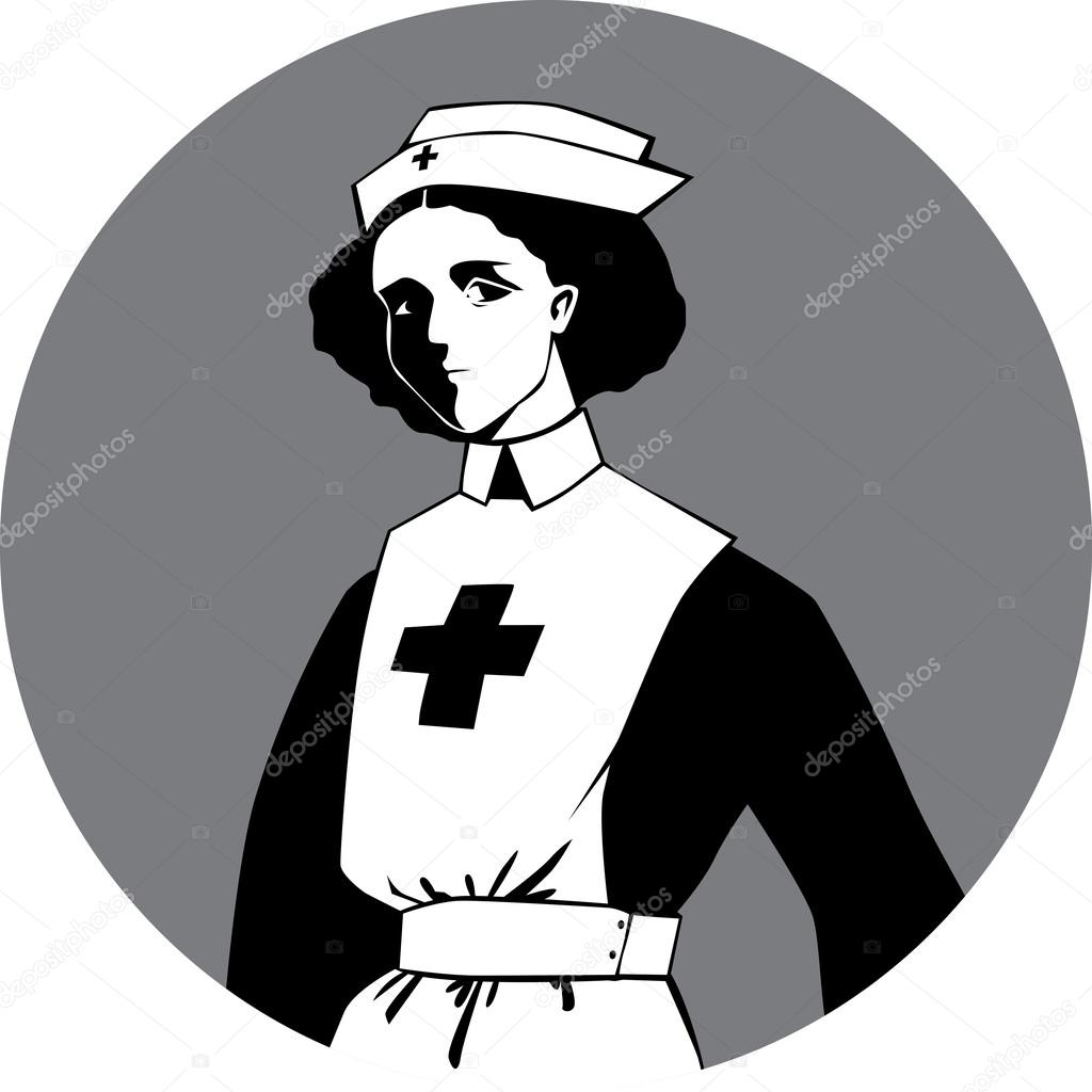 1024x1024 World War One Nurse Clipart Stock Vector Aleutie