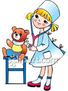 225x300 Nurse With Kids Clipart