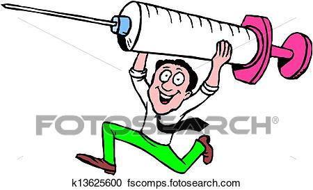 450x273 Clipart Of Nurse With Syringe Cartoon K13625600