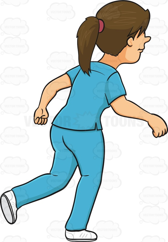 558x800 Running Nurse Clipart