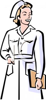 163x350 Vintage Nurse Clipart