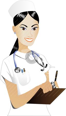 258x450 Nurse Clipart Vector