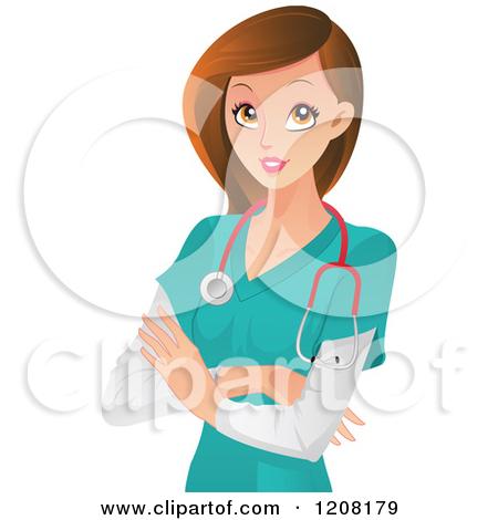450x470 Pretty Nurse Clipart