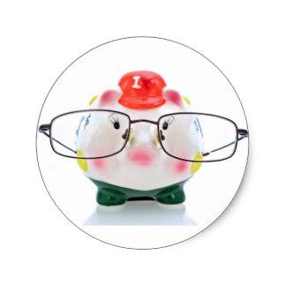 324x324 Piggy Bank Stickers Zazzle