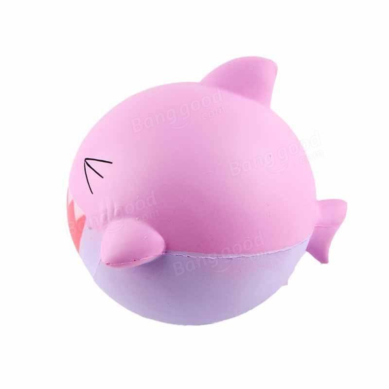 800x800 Sanqi Elan Squishy Pink Shark 15cm Jumbo Slow Rising Soft