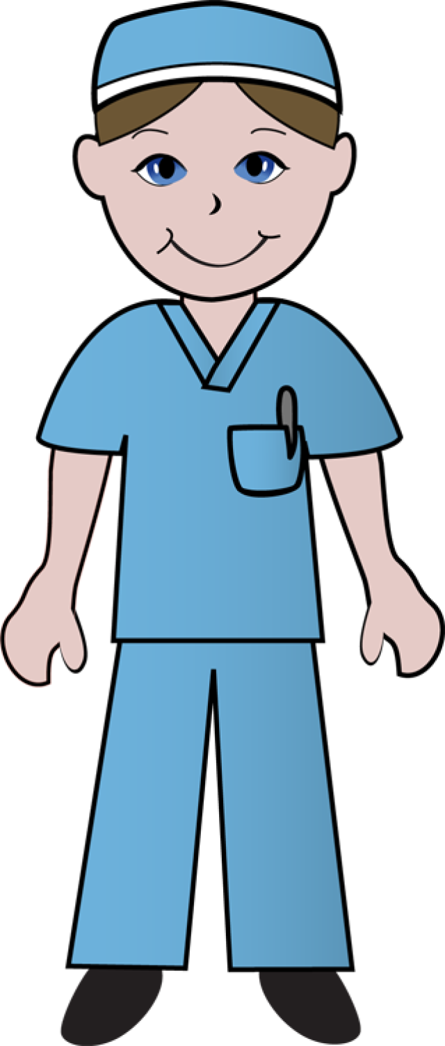 640x1504 Free Clip Art Of Doctors And Nurses Nurse In Blue Scrubs Etc