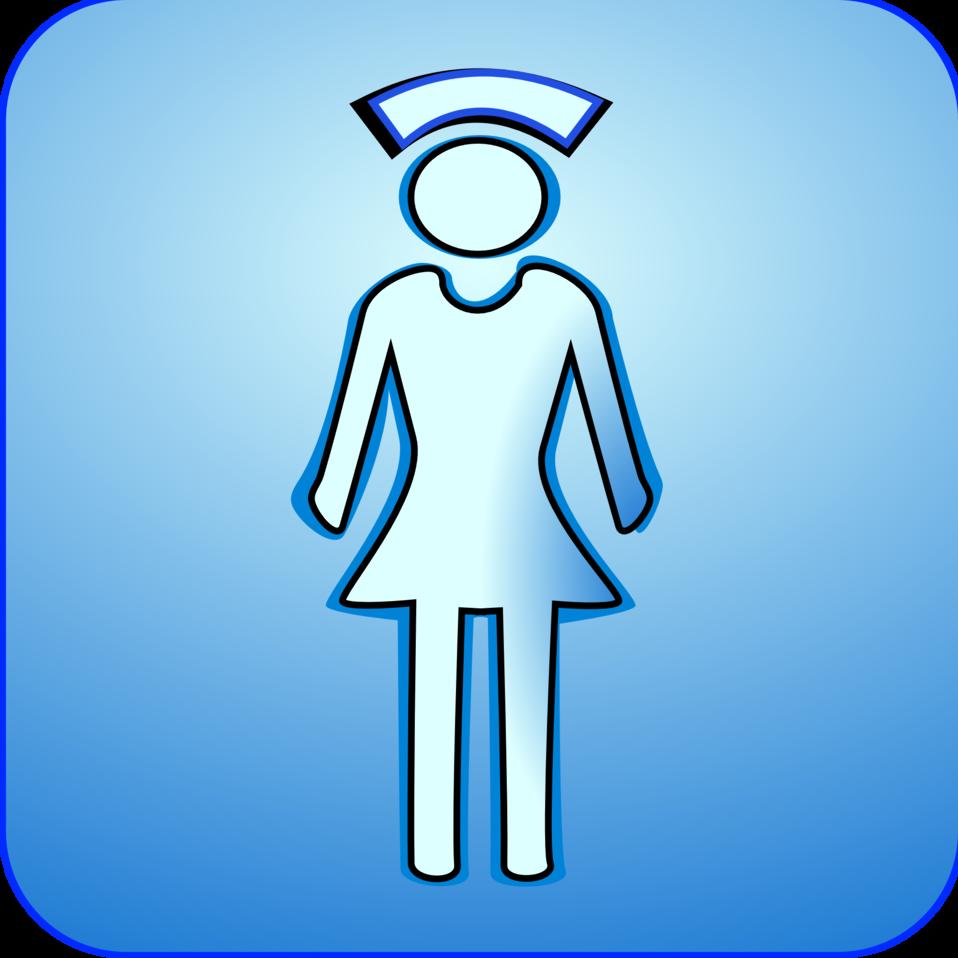 958x958 Public Domain Clip Art Image Illustration Of A Nurse Symbol Id