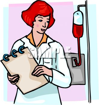 329x350 Picture Of A Nurse Checking On Her Patient In A Vector Clip Art