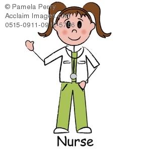 300x300 Art Illustration Of A Stick Figure Surgical Nurse