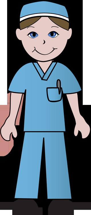 319x750 Man Nursing Clipart