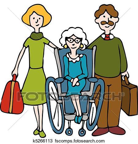 450x470 Clipart Of Moving Senior To Nursing Home K5266113