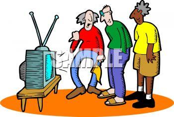 350x235 Old Men Watching Tv