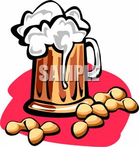 285x300 Free Clipart Image Beer Nuts And A Pint Of Beer