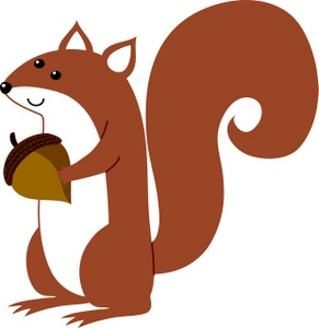 291x300 Squirrel Clip Art With Nuts Clipart Panda